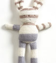 Natures Purest – Natures Knits Striped Knitted Bunny (Grey Stripe)