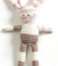 Natures Purest – Natures Knits Striped Knitted Bunny (Pink Stripe)