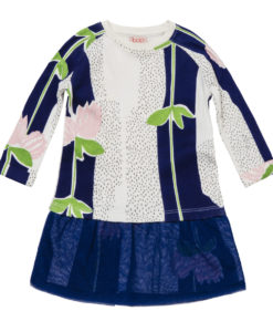 Baobab Navy Flower Print Baby Dress