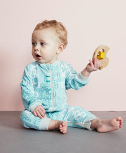 Baobab Blue Graphic Zippy Babygro