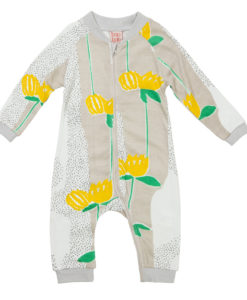 Baobab Yellow Flower Zippy Babygro