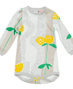 Baobab Yellow Flower Print Bodysuit