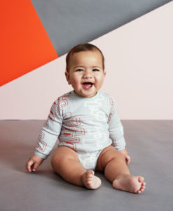 Baobab Orange Graphic Long Sleeve Bodysuit