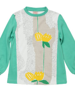 Baobab - Yellow Flower Print Panel Tee