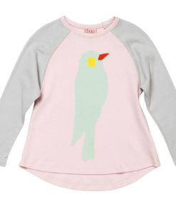 Baobab Parrot Print Girls Long Sleeve Tee