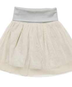 Baobab - Cream Cotton & Tulle Skirt