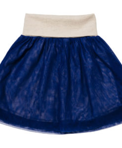 Baobab - Navy Cotton & Tulle Skirt