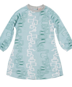 Baobab Blue Graphic Raglan Dress