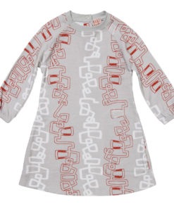 Baobab Orange Graphic Raglan Dress